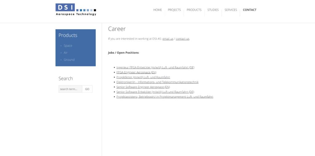 Jobs bei der DSI Aerospace Technologie GmbH