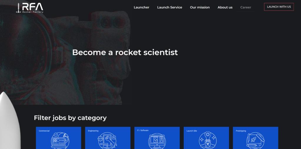 Jobs bei der Rocket Factory Augsburg AG